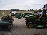Paul, moving things with his tractor